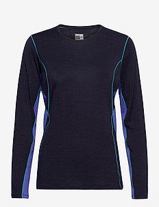 W 200 Oasis Deluxe LS Cre - bluzki termoaktywne - midnight navy/mystic