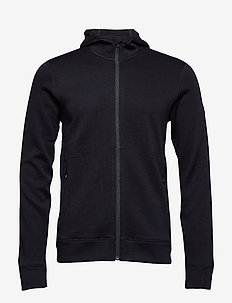 Mens Elemental LS Zip Hood - mid layer-jakker - black