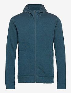 Mens Elemental LS Zip Hood - mid layer-jakker - nightfall