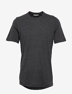 Mens Sphere SS Crewe - t-shirts - black hthr