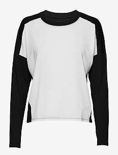 Wmns Kinetica LS Crewe - långärmade tröjor - snow/black