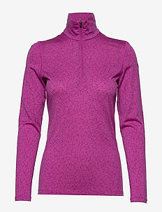 Wmns 200 Oasis LS Half Zip Sky Paths - base layer tops - amore