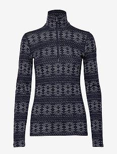 W 250 Vertex LS Half Zip Crystalline - bluzki termoaktywne - midnight navy