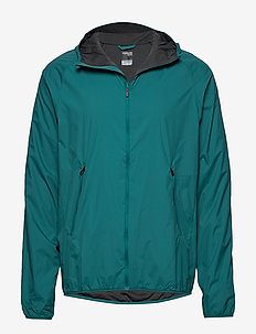 Mens Coriolis II Hooded Windbreaker - wandel- en regenjassen - poseidon/monsoon