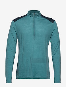 Mens Amplify LS Half Zip - BLUE SPRUCE/NIGHTFALL