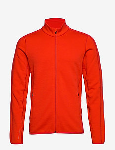 Mens Elemental LS Zip - mid layer-takit - chili red