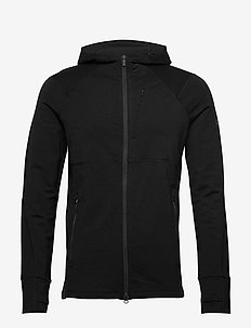 M Quantum II LS Zip Hood - fleece - black