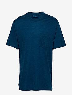 M NatDye Drayden SSPktCrw - t-shirts - true indigo dk