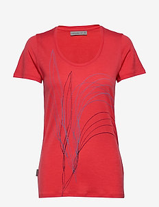 Wmns Tech Lite SS Scoop Leaf - t-shirts - fire