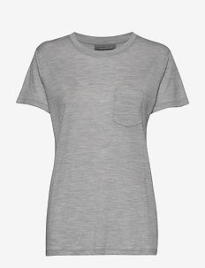 Wmns Ravyn SS Pocket Crewe - t-shirts - blizzard hthr