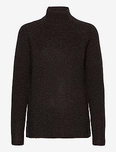 Wmns Hillock Funnel Neck Sweater - pologenser - peat hthr
