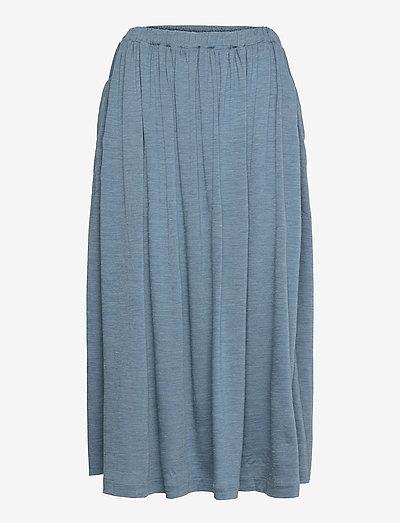 W Cool-Lite Long Skirt - sports skirts - granite blue