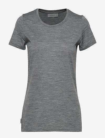W Tech Lite SS Low Crewe - t-shirts - gritstone hthr