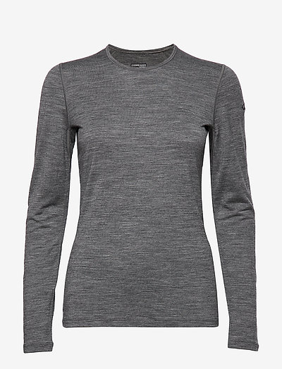 W 200 Oasis LS Crewe - base layer tops - gritstone hthr