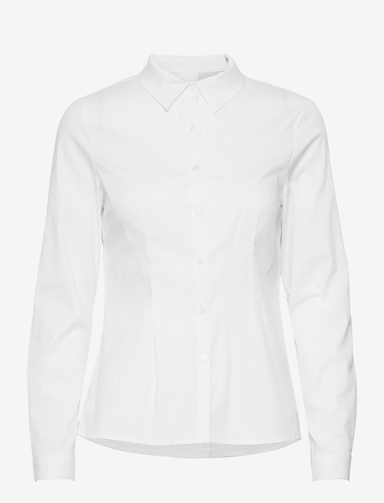 ICHI - IHDIMA SH - long-sleeved shirts - white - 0