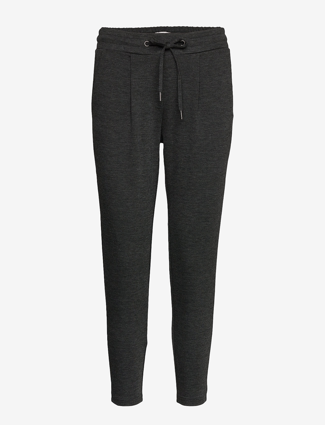 ICHI - IHKATE PA CROPPED - casual trousers - dark grey melange - 0