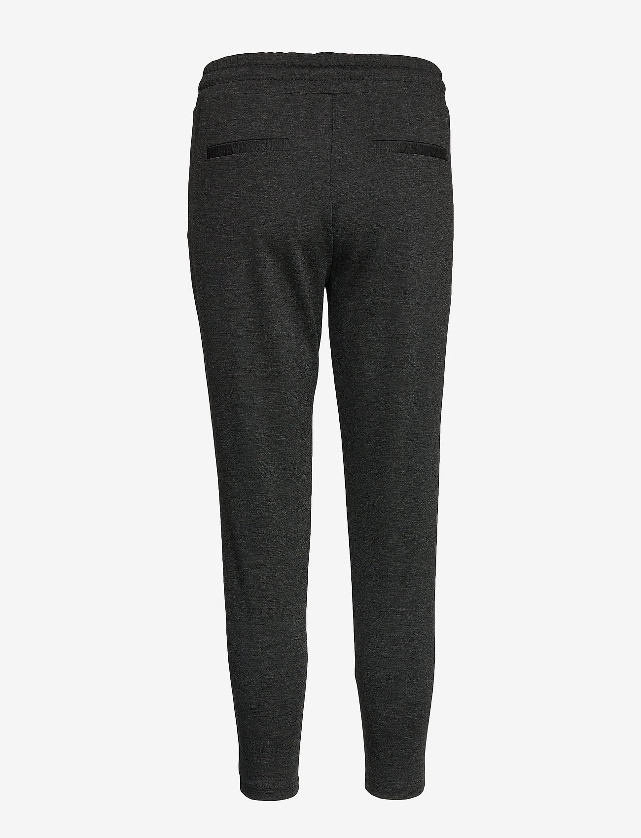 ICHI - IHKATE PA CROPPED - casual trousers - dark grey melange - 1