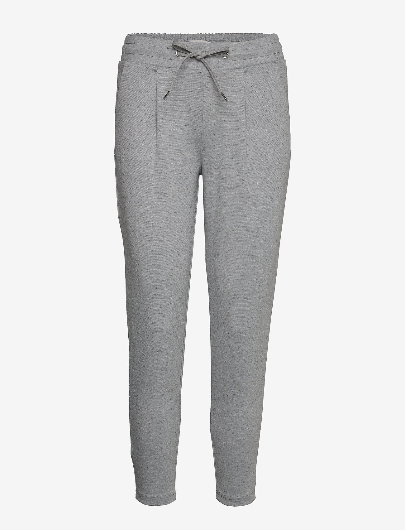 ICHI - IHKATE PA CROPPED - casual trousers - grey melange - 0