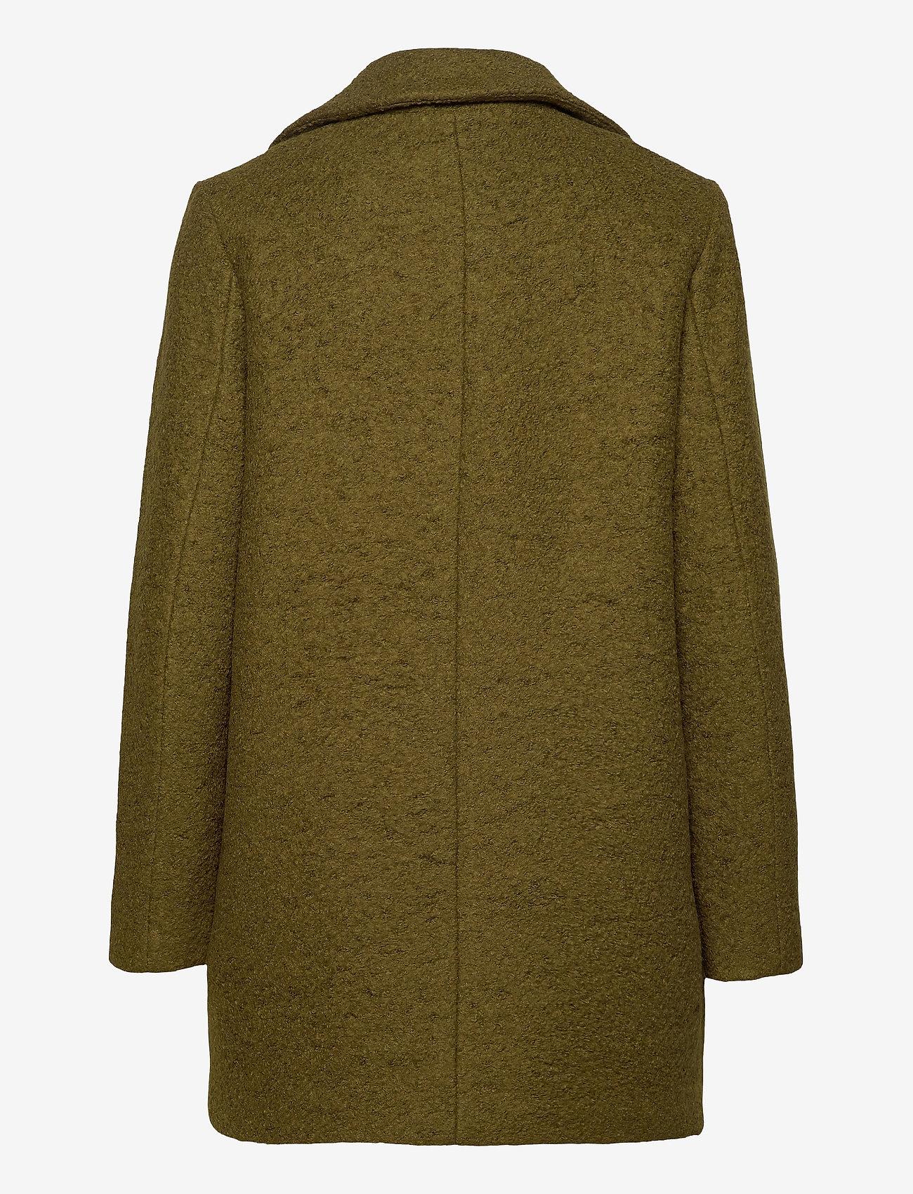 ICHI - STIPA JA - wool coats - fir green - 1