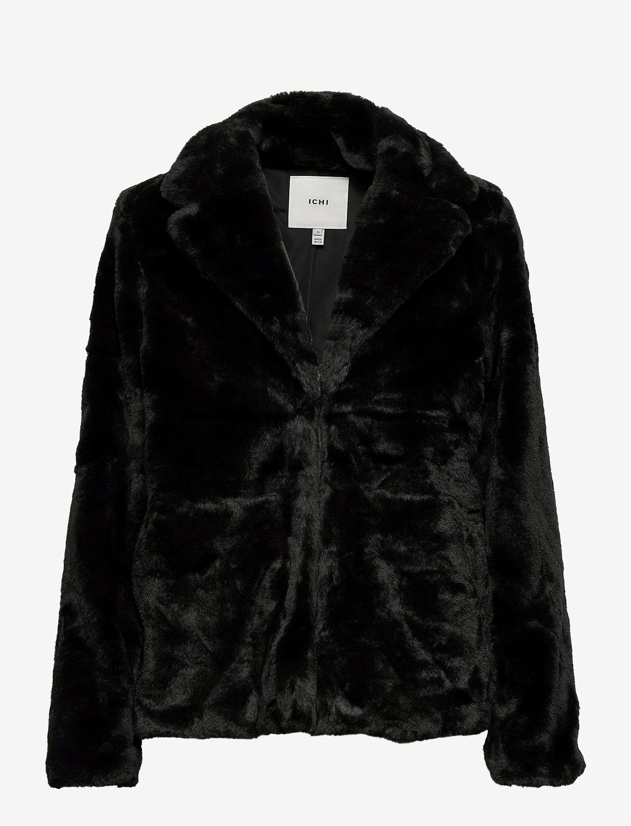 ICHI - SIMPO JA - faux fur - black - 0