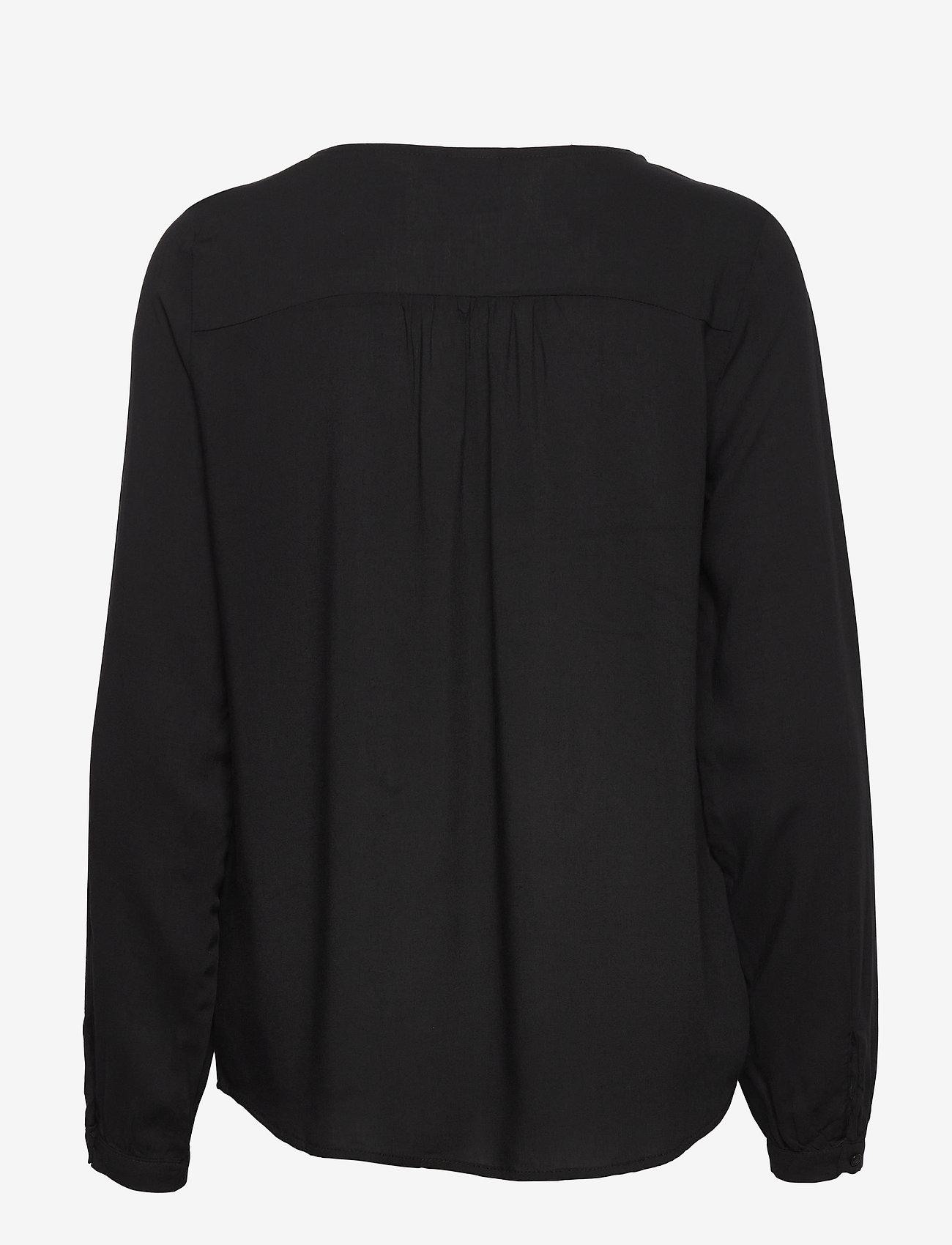 ICHI - IHMAJA LS - long sleeved blouses - black - 1