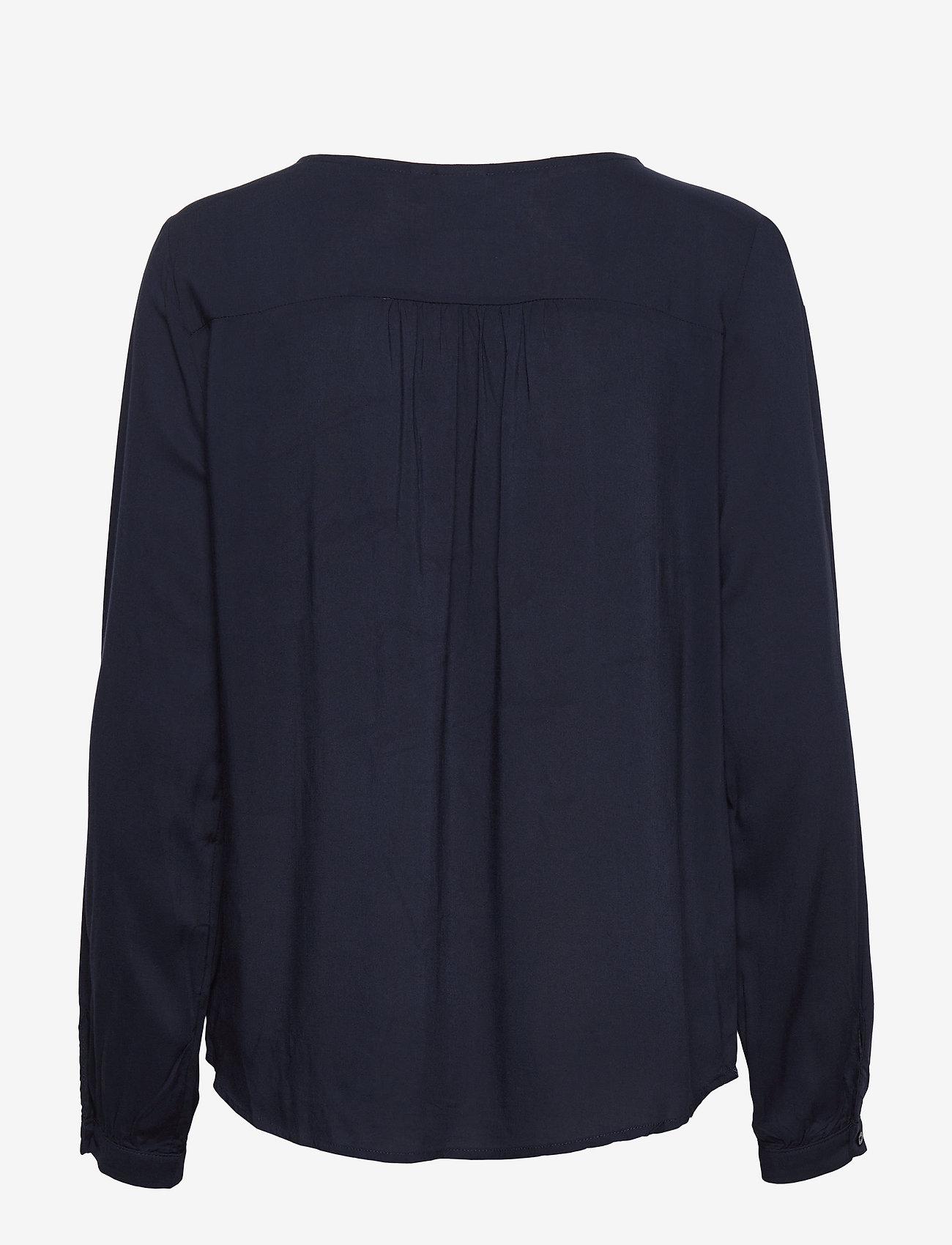 ICHI - IHMAJA LS - long sleeved blouses - total eclipse - 1