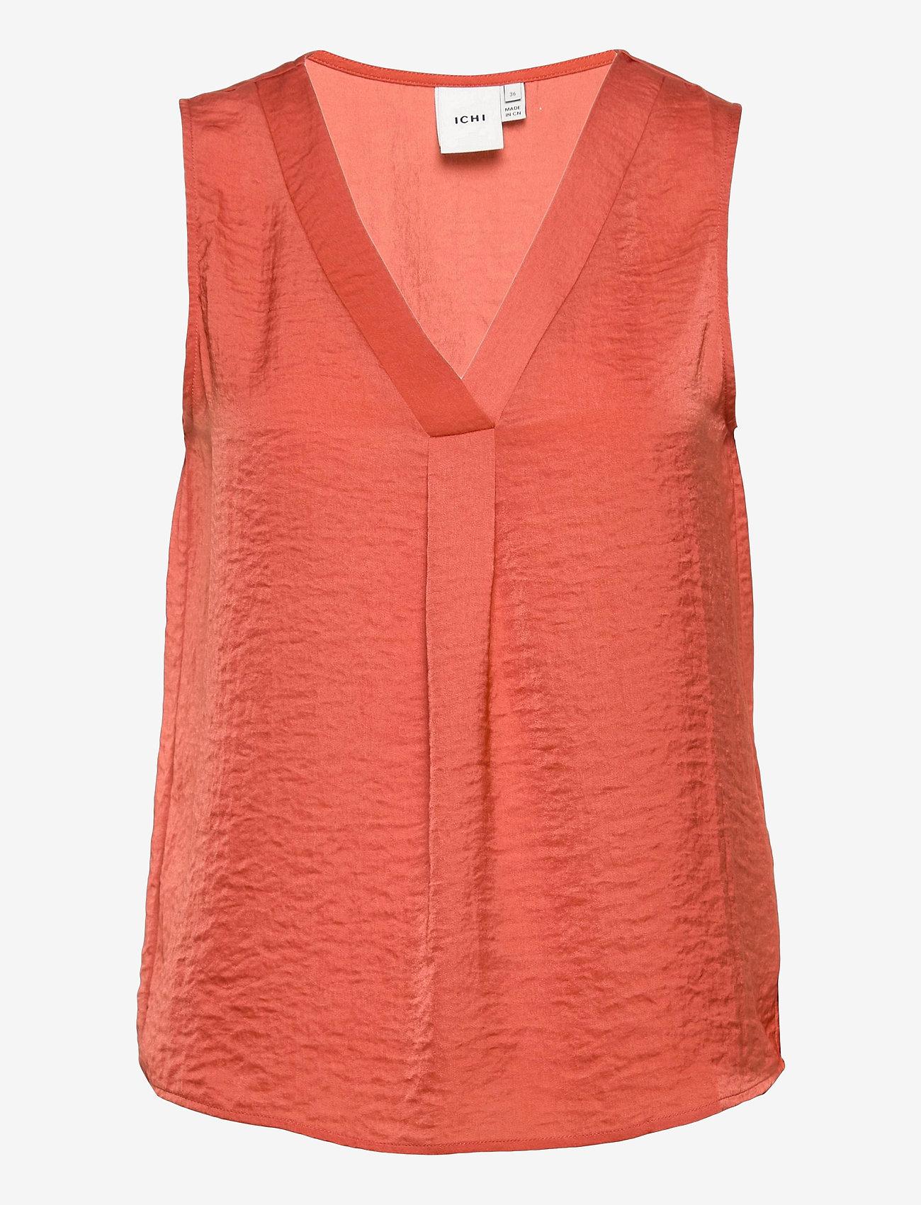 ICHI - IHCRISSY TO2 - sleeveless blouses - hot sauce - 0