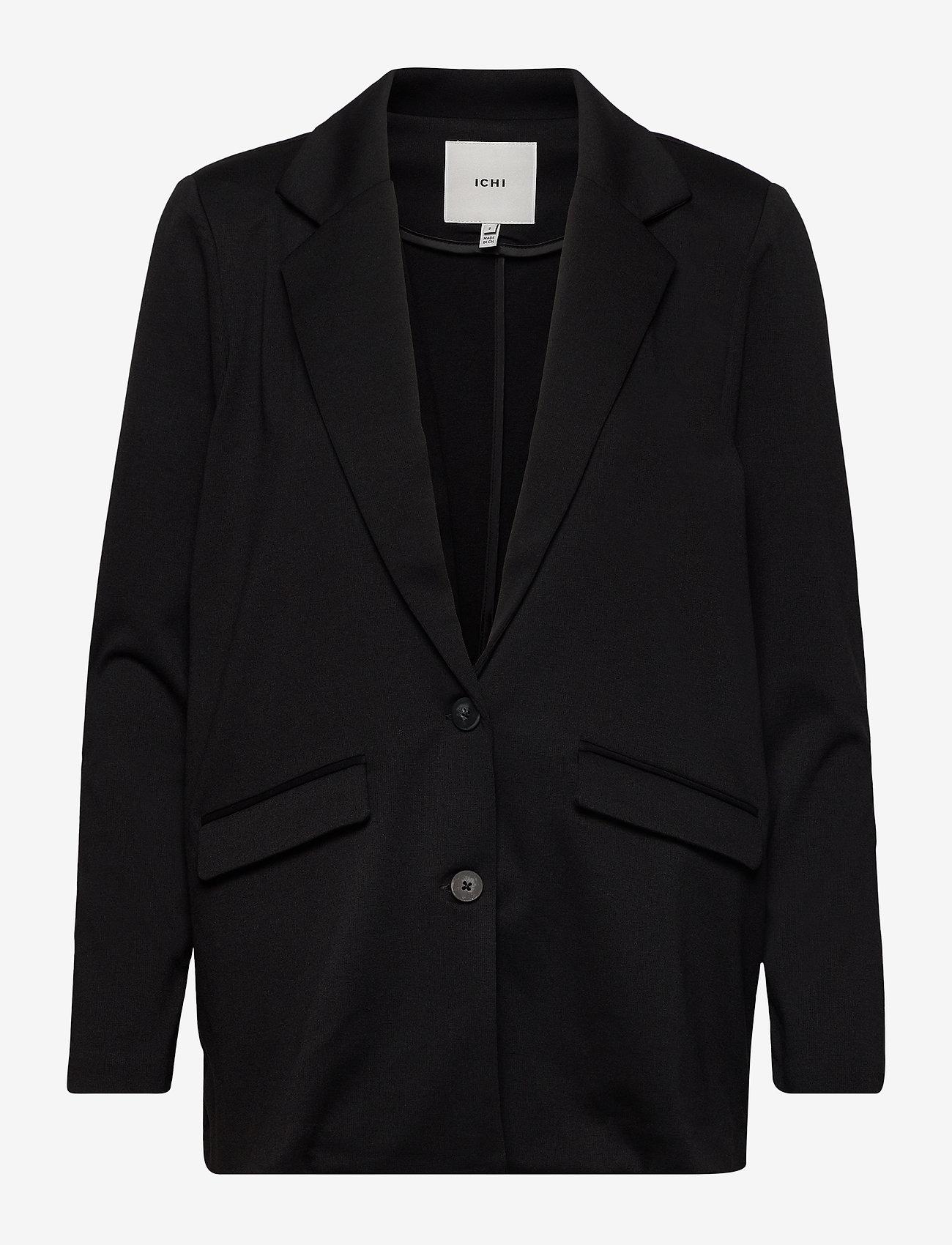 ICHI - IHKATE LONG BL2 - oversize blazers - black - 0
