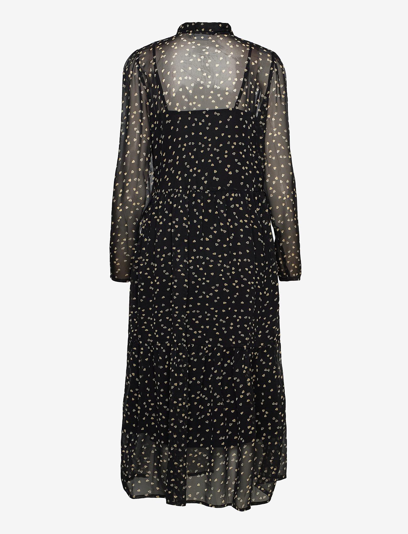 ICHI - IHBETTY DR2 - midi dresses - black - 1