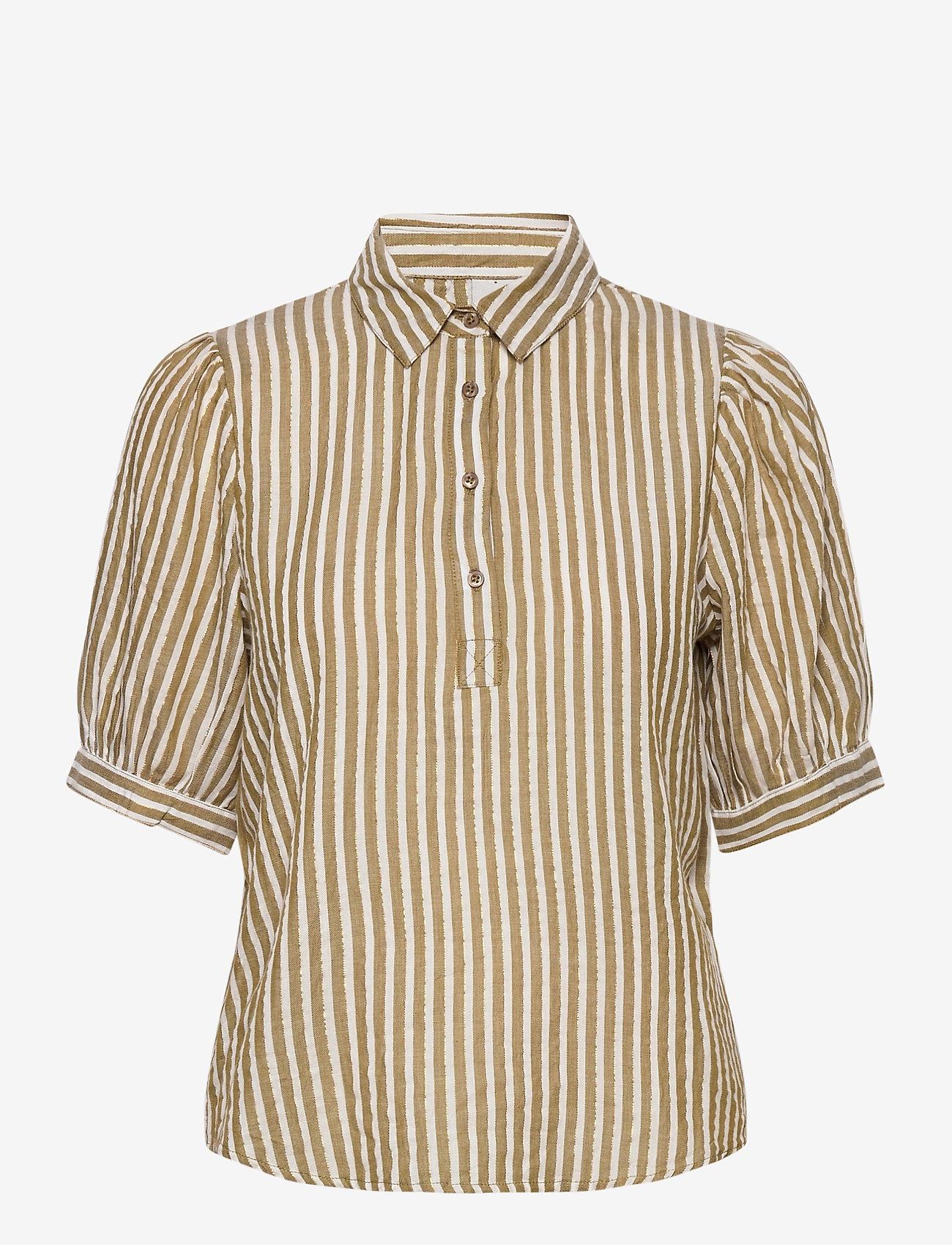 ICHI - IHCAJUN SS - overhemden met korte mouwen - fir green - 0