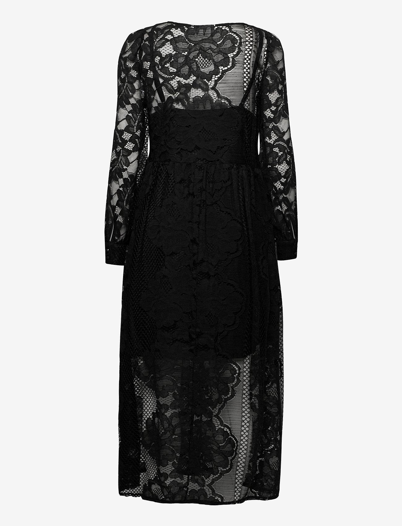 ICHI - IHEBONIQUE DR - midi dresses - black - 1
