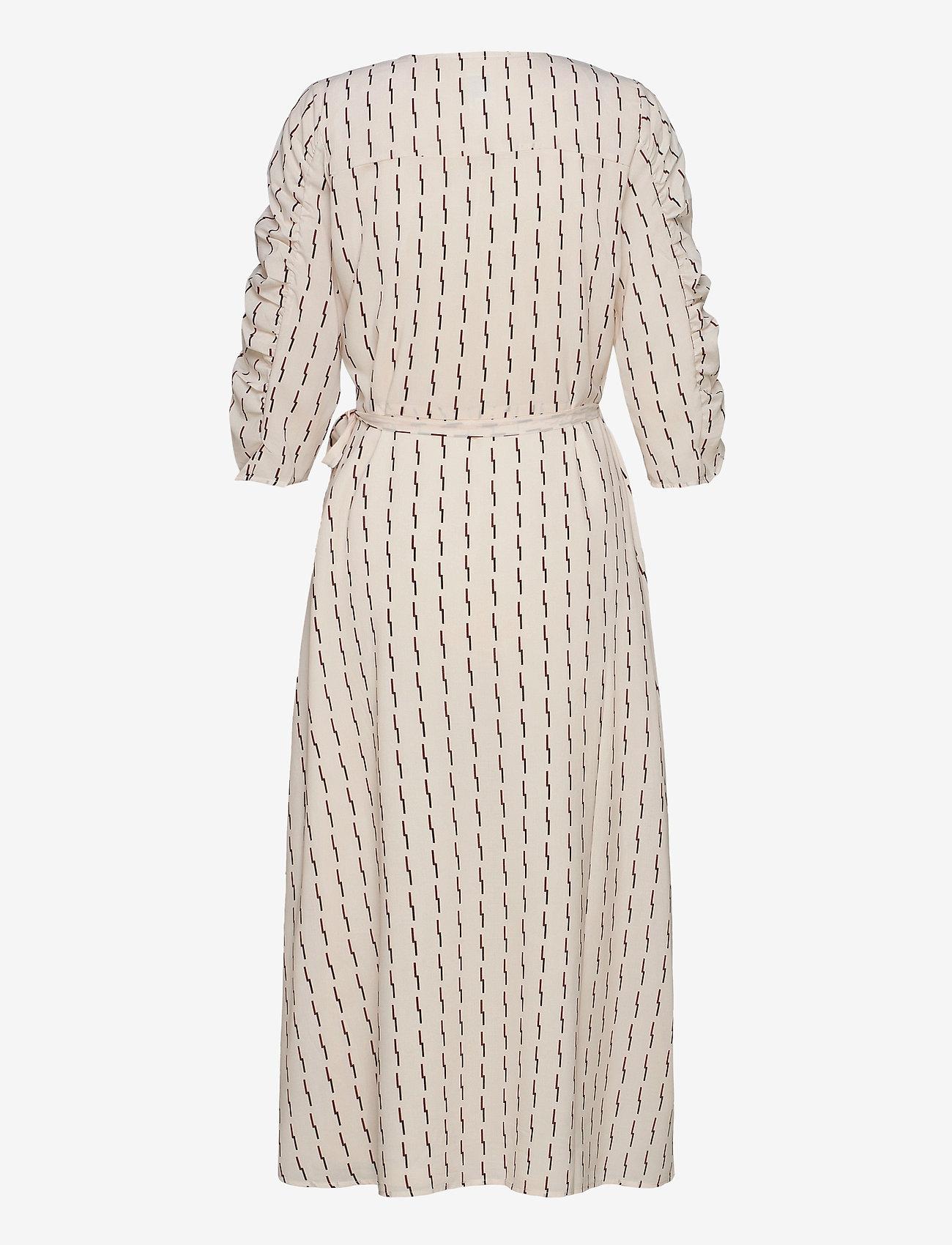 ICHI - IHLYLA DR - wrap dresses - tapioca - 1