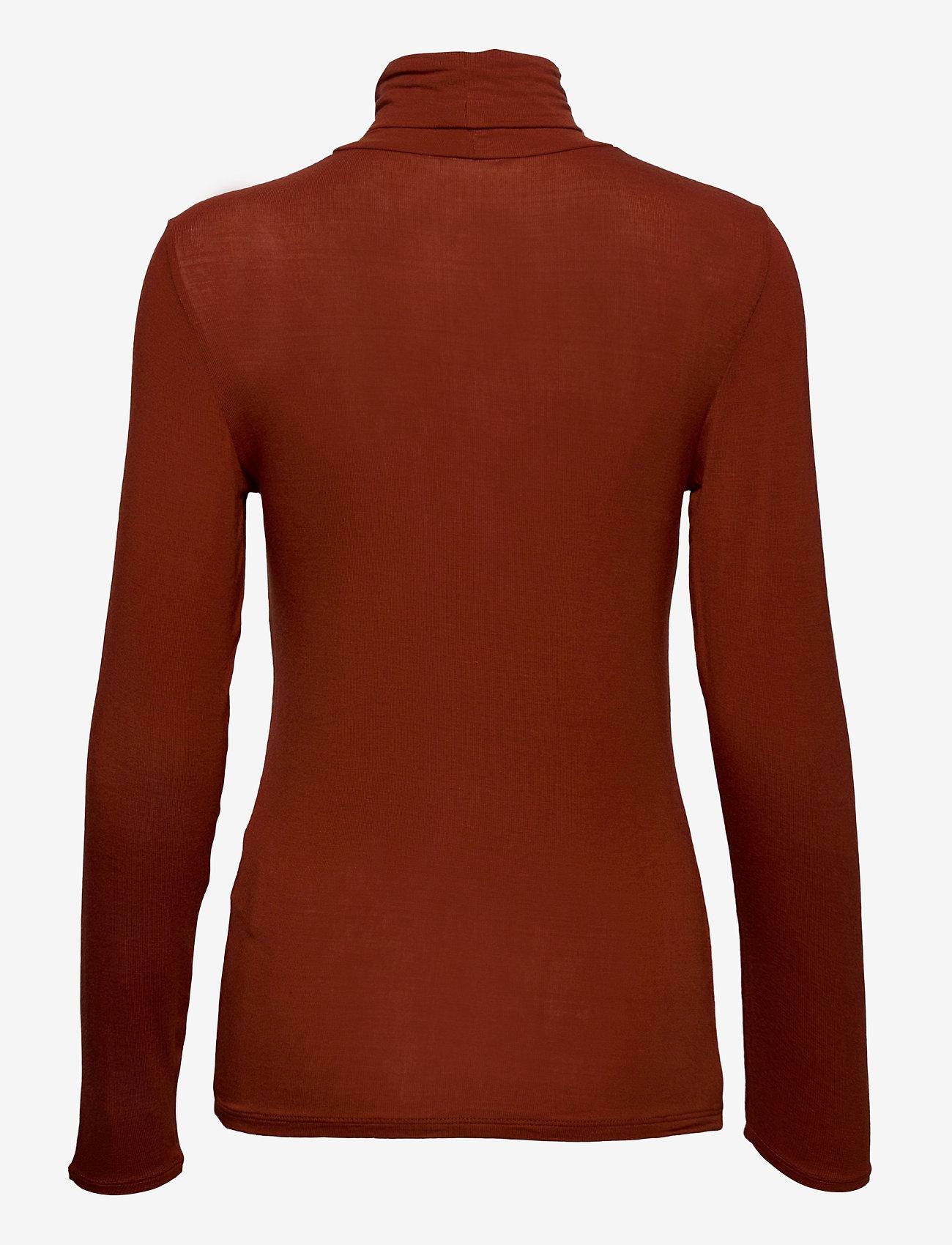 ICHI - IHPHILUCA LS - t-shirt & tops - burnt henna - 1