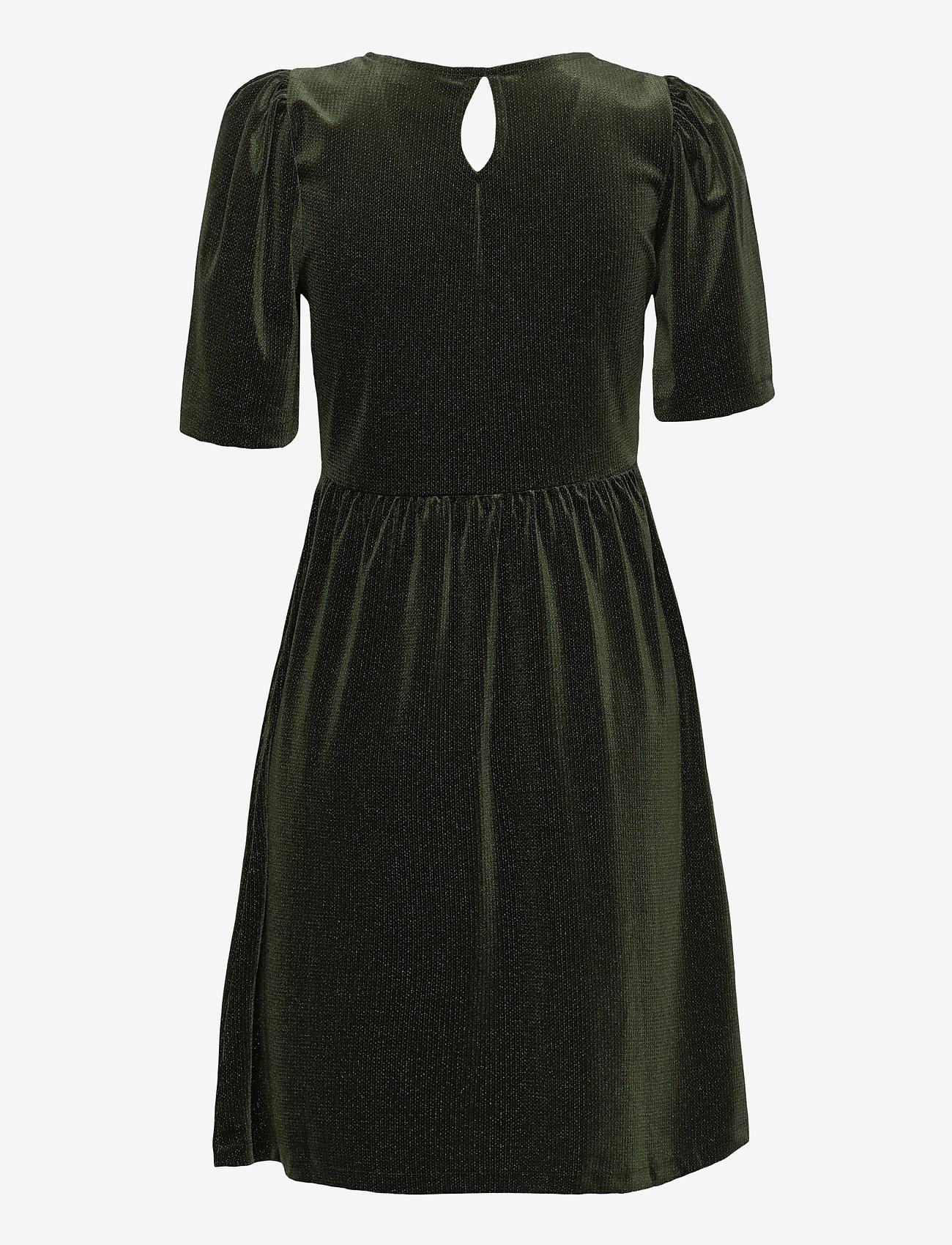 ICHI - IHRIANNA DR - midi dresses - kombu green - 1