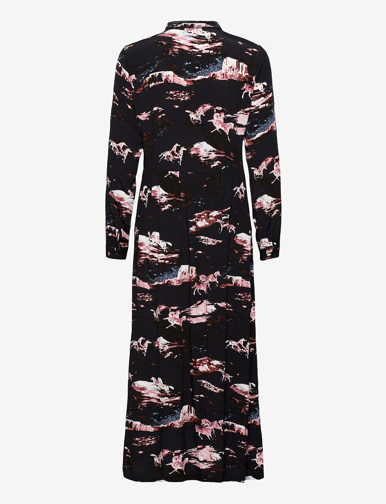 ICHI - IHALAMIISA DR - maxi dresses - black - 1