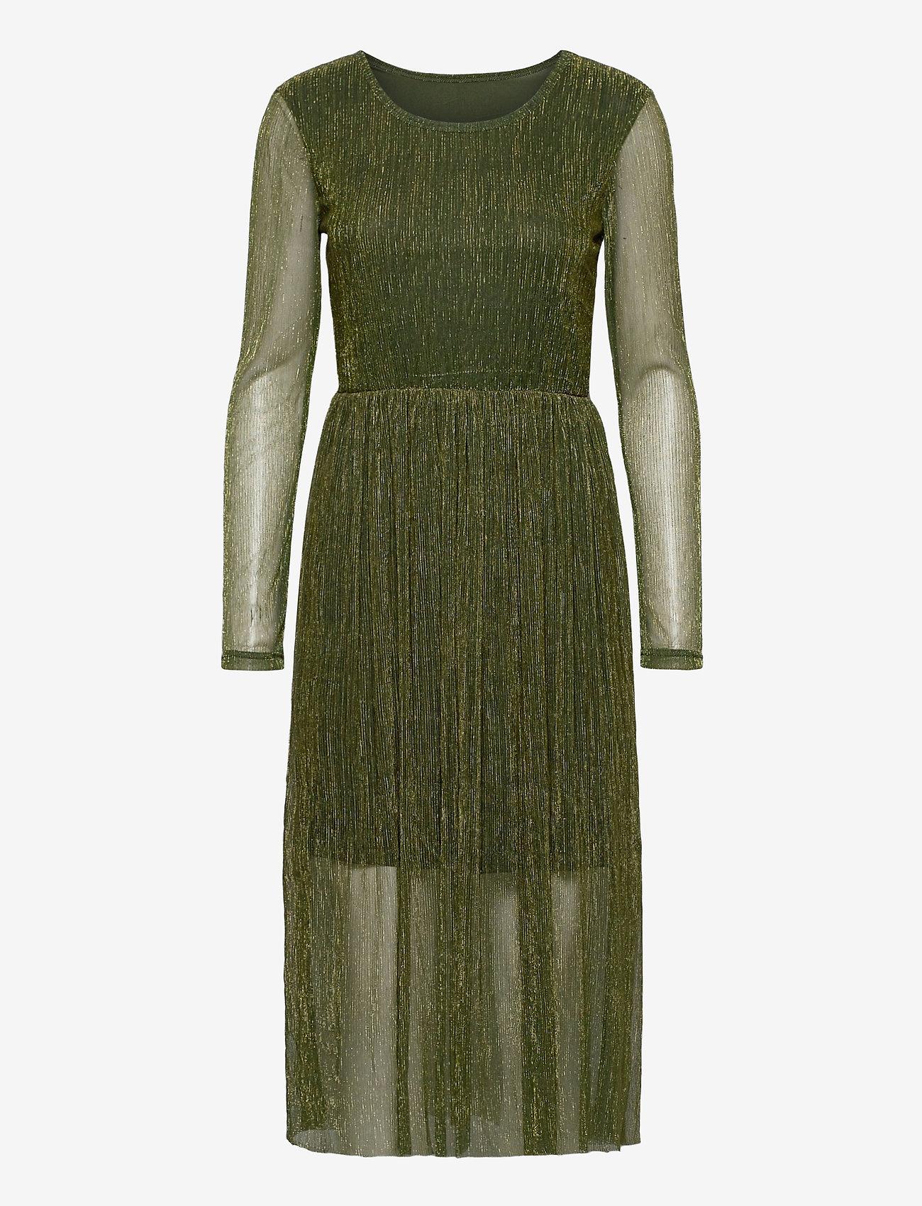 ICHI - IHJAKOBINE DR - midi dresses - kombu green - 0