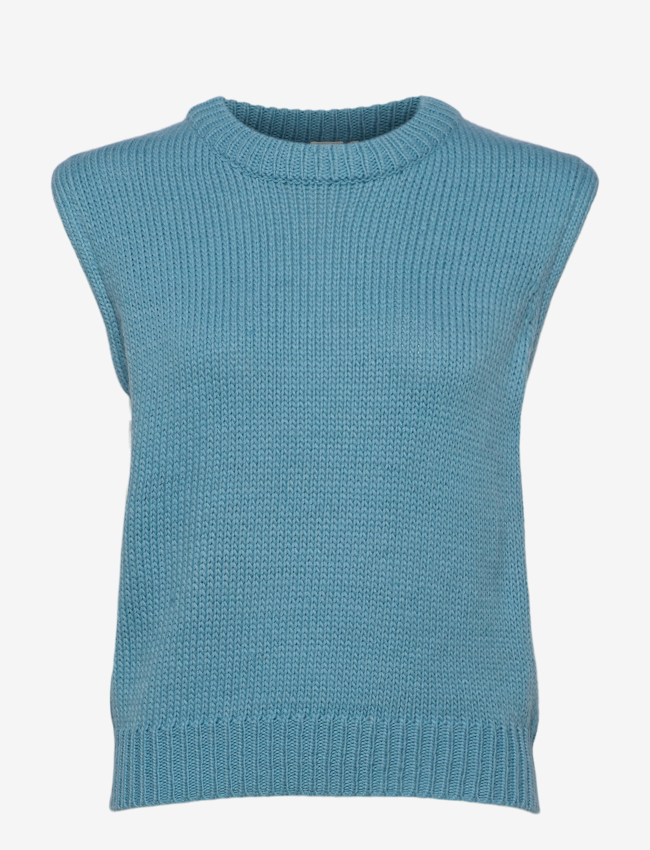 ICHI - IHMILLI WA - knitted vests - delphinium blue - 0