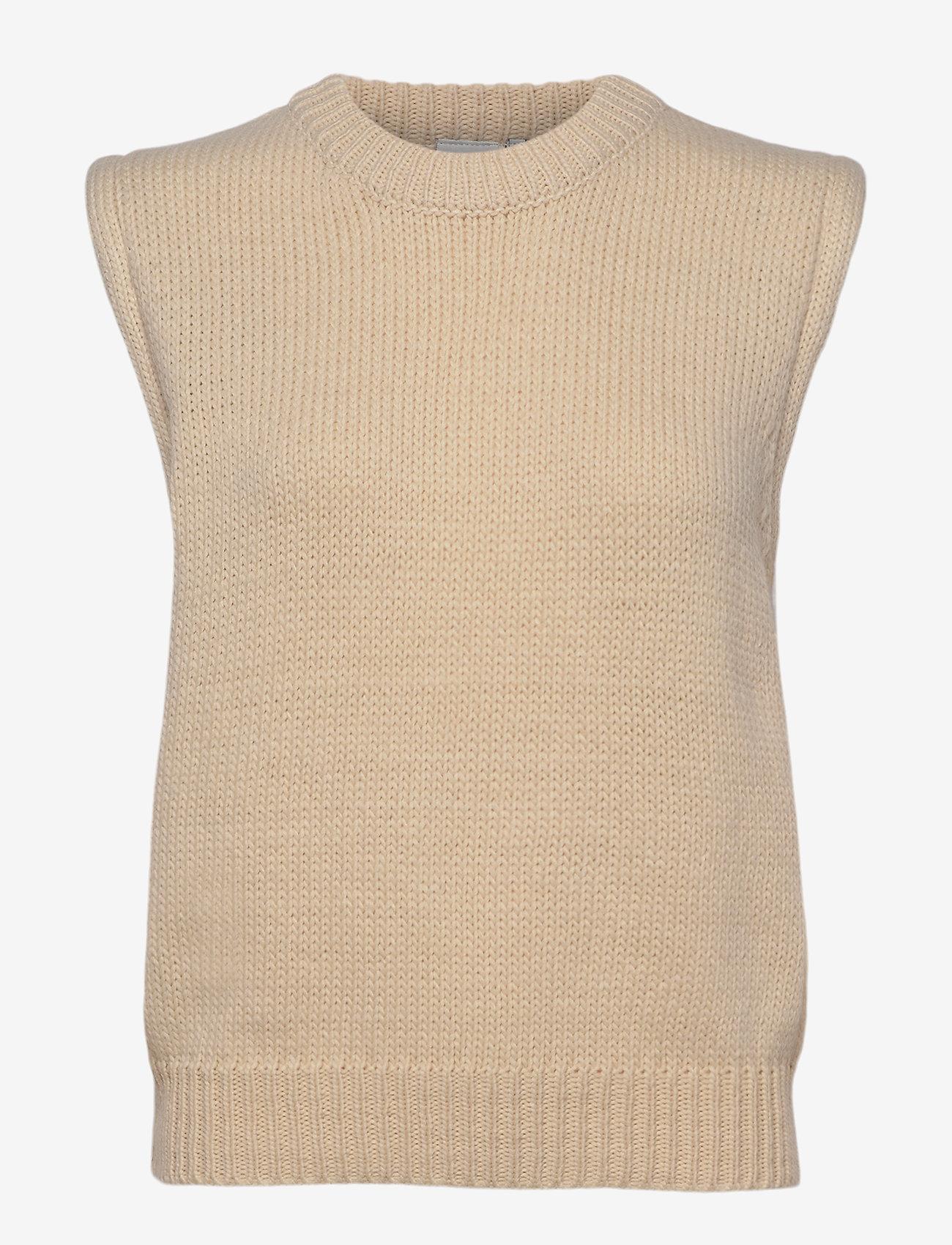 ICHI - IHMILLI WA - knitted vests - tapioca - 0