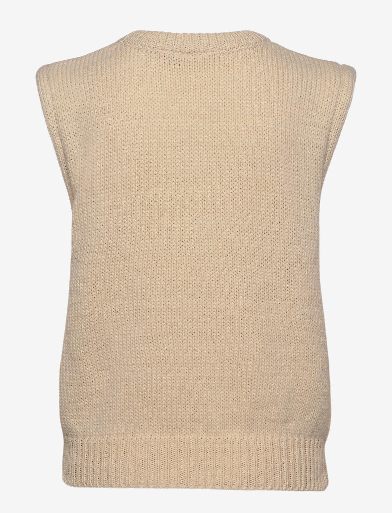 ICHI - IHMILLI WA - knitted vests - tapioca - 1