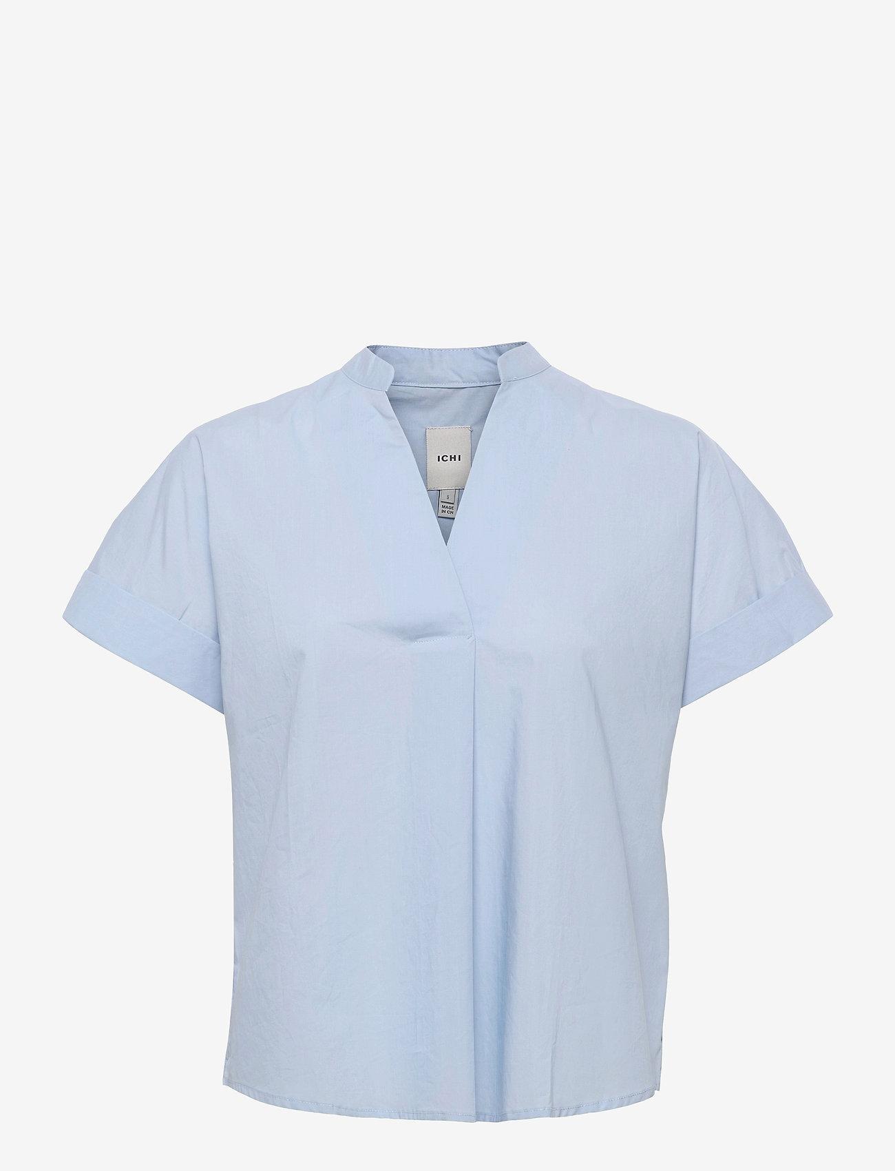 ICHI - IHINKALA SS2 - short-sleeved blouses - cashmere blue - 0
