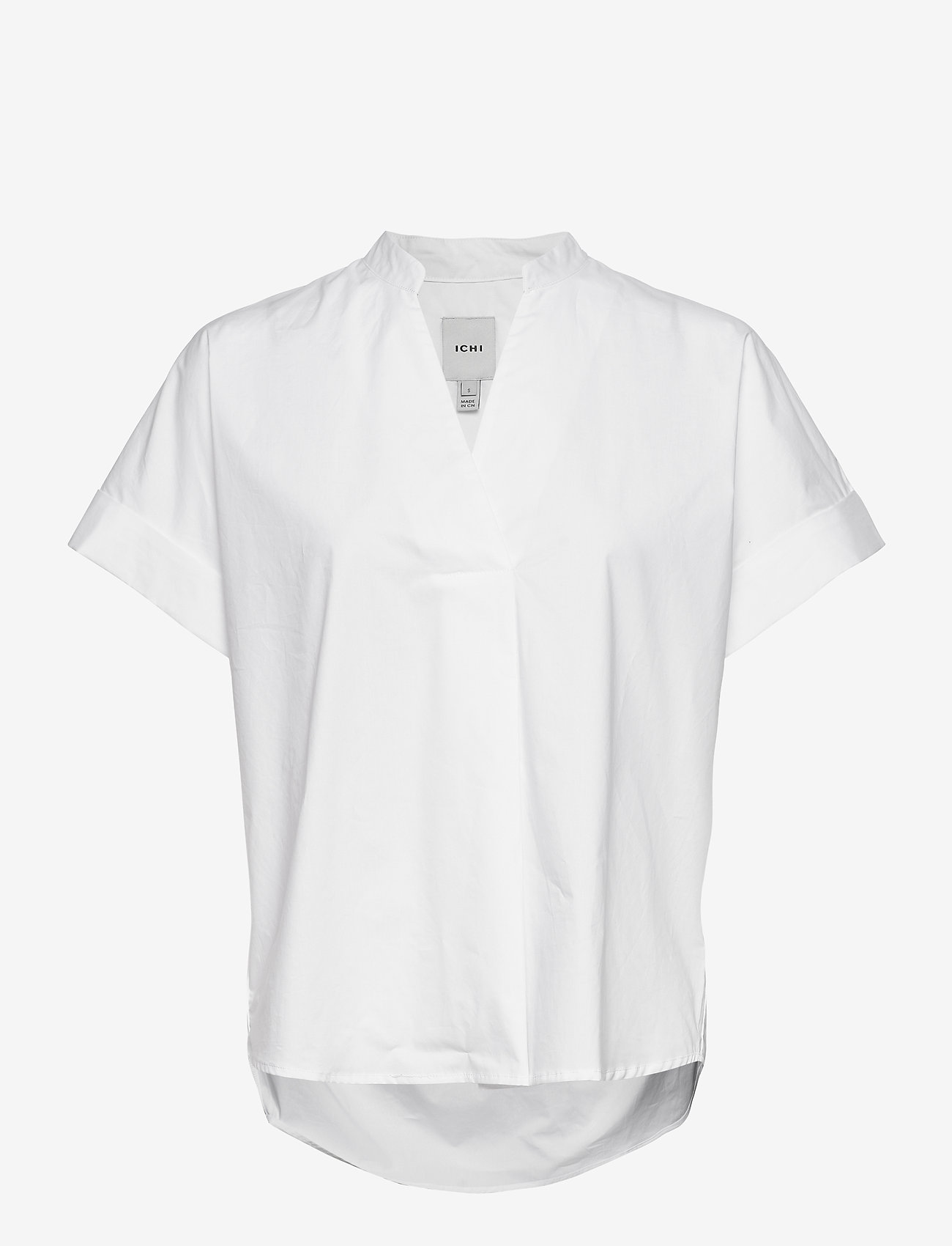 ICHI - IHINKALA SS2 - short-sleeved blouses - cloud dancer - 0