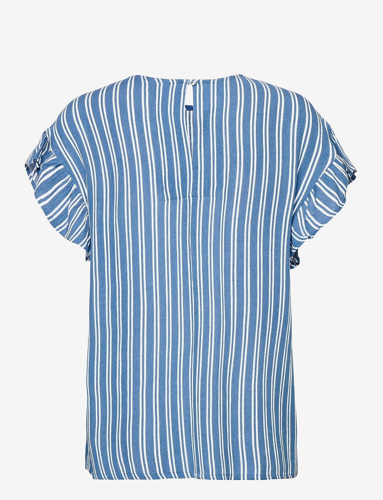 ICHI - IHMARRAKECH AOP SS4 - short-sleeved blouses - coronet blue - 1