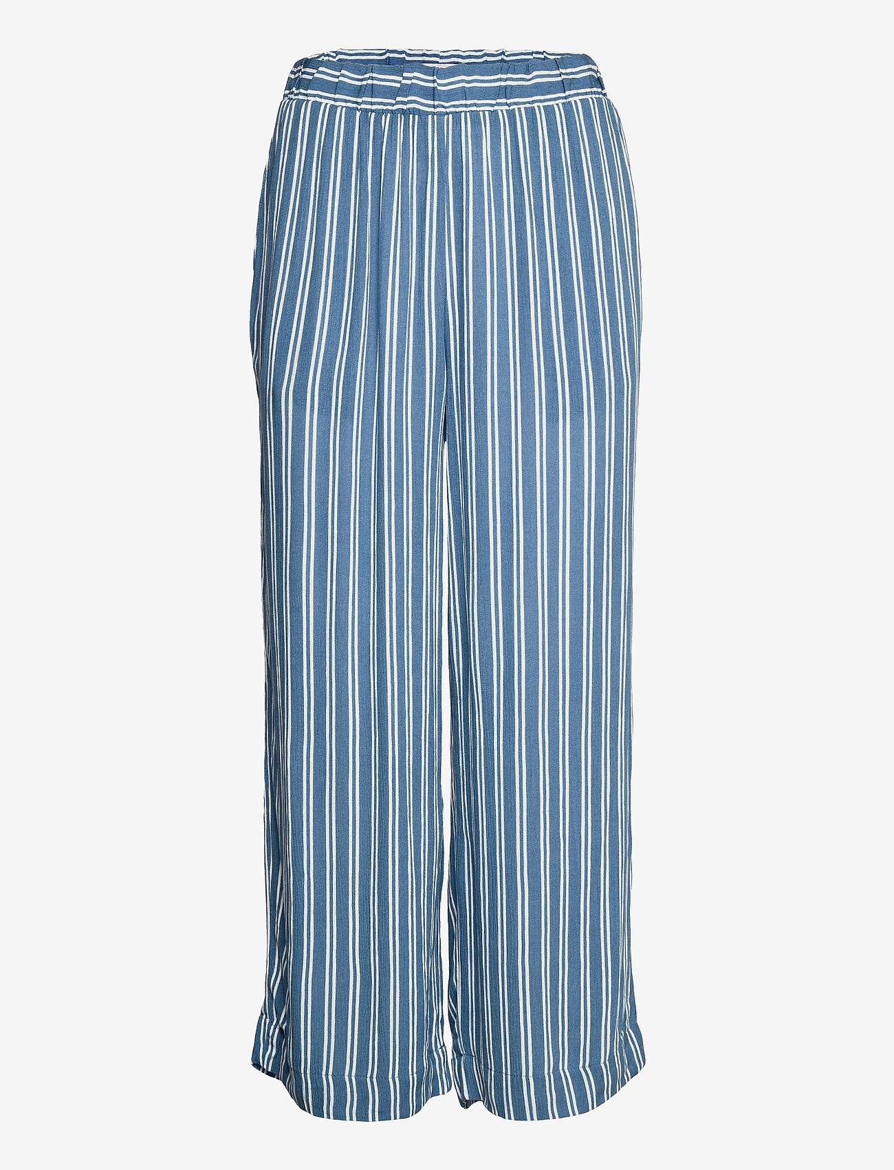 ICHI - IHMARRAKECH AOP PA - casual trousers - coronet blue - 0
