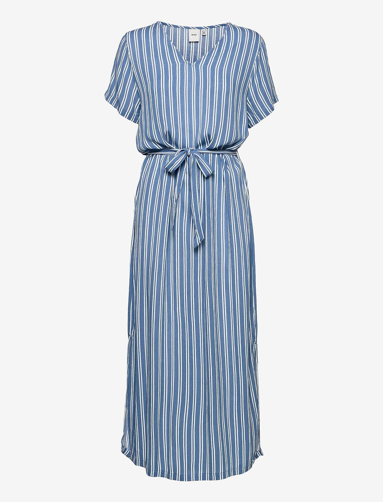 ICHI - IHMARRAKECH AOP DR - midi dresses - coronet blue - 0