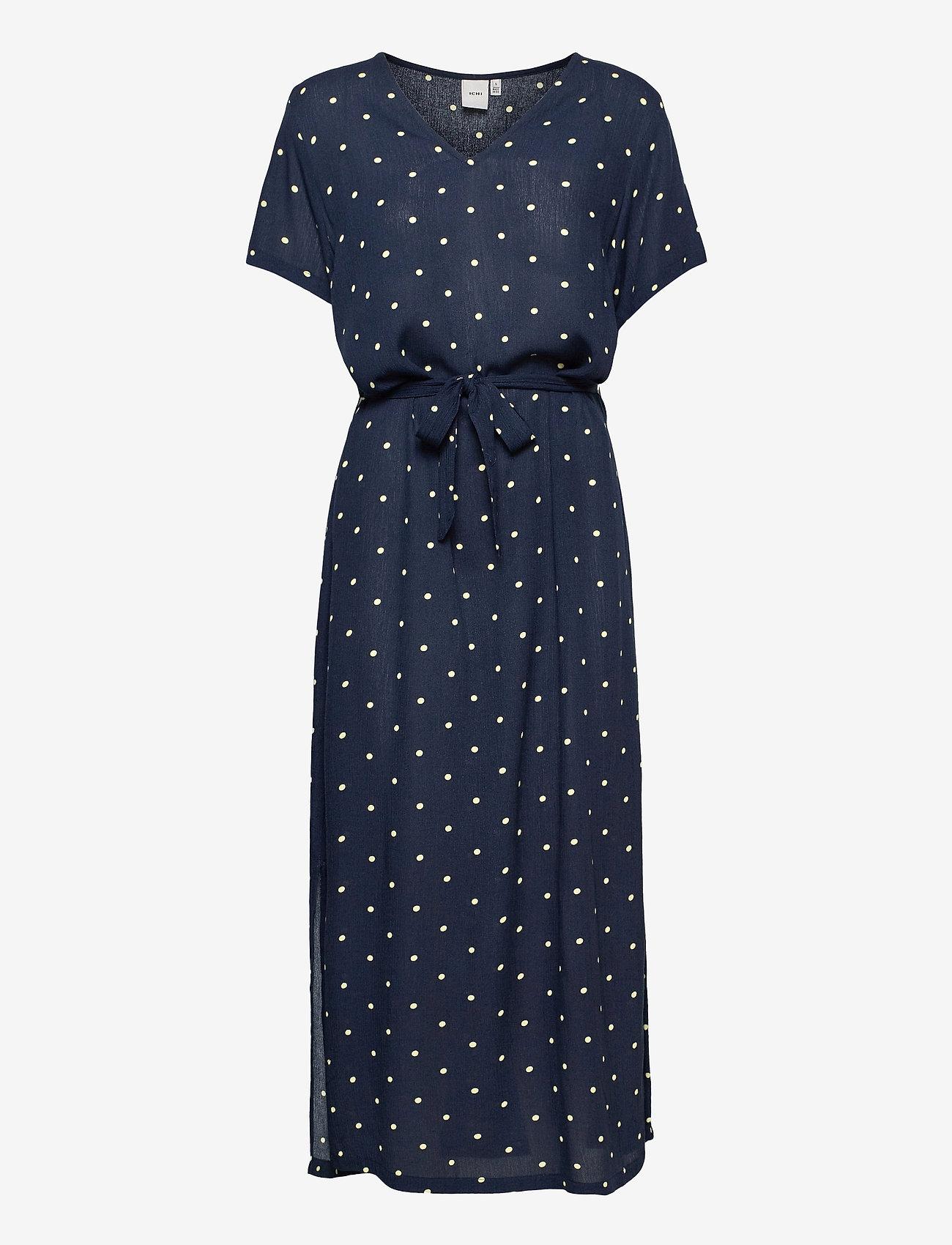 ICHI - IHMARRAKECH AOP DR - midi dresses - total eclipse dot - 0