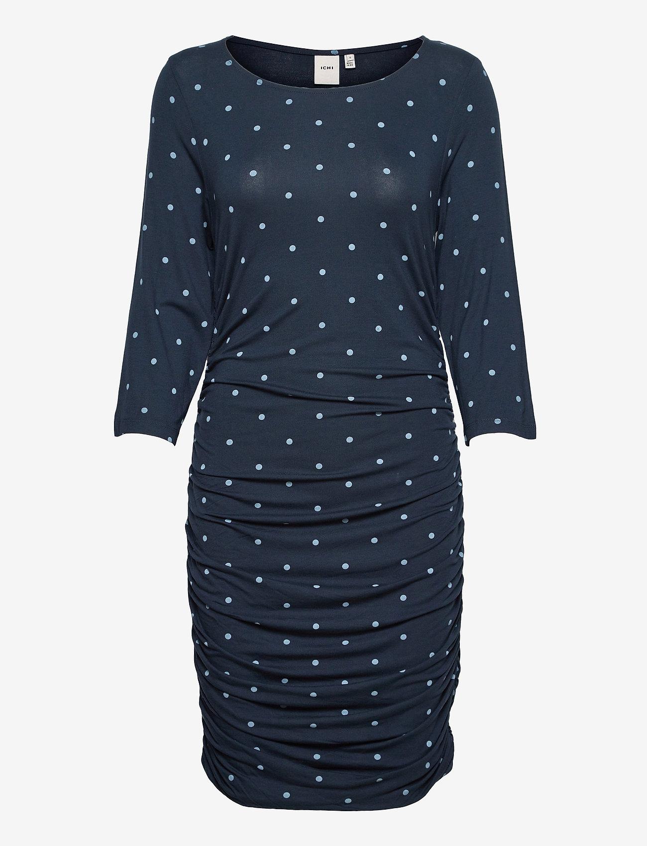 ICHI - IHLISA DR14 - midi dresses - total eclipse - 0