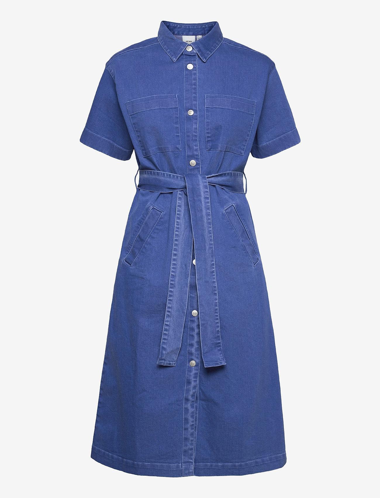 ICHI - IHMAZIE DR - summer dresses - washed blue, denim - 0