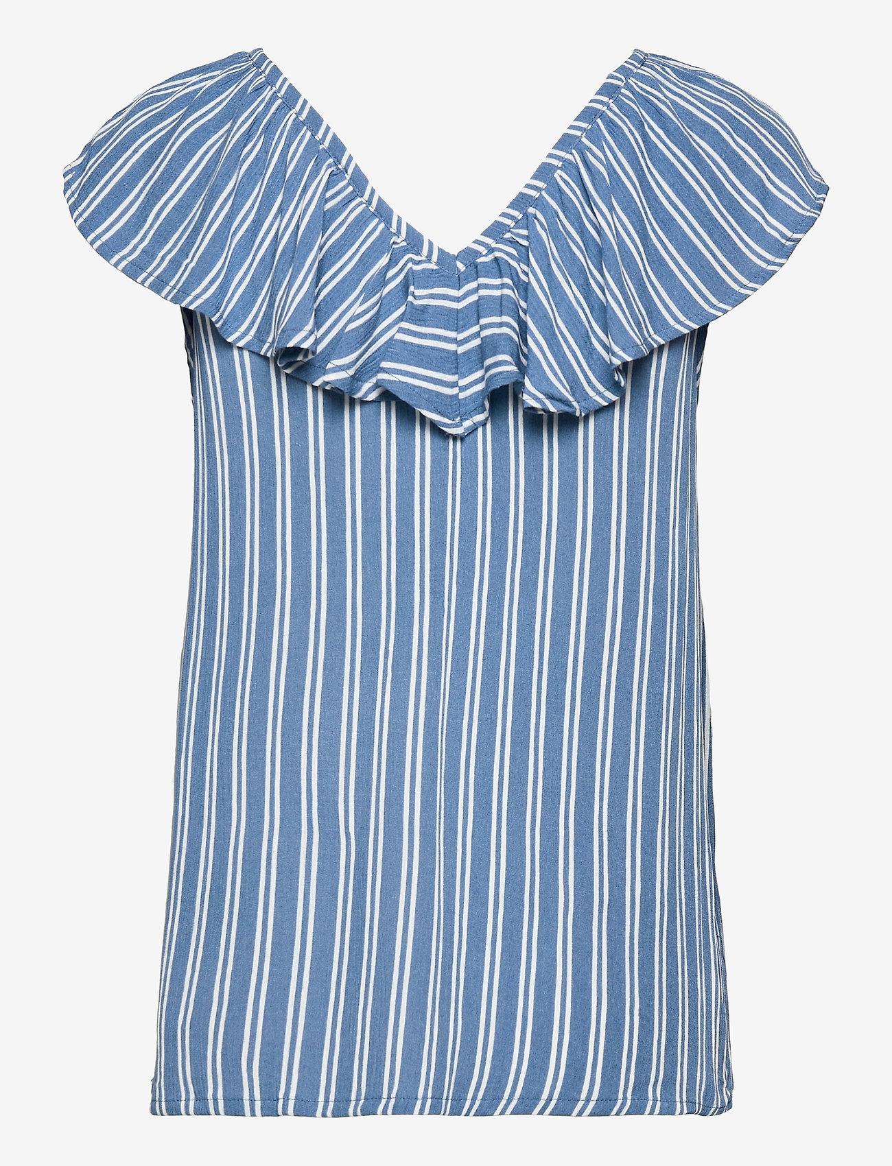 ICHI - IHMARRAKECH AOP TO3 - short-sleeved blouses - coronet blue - 1