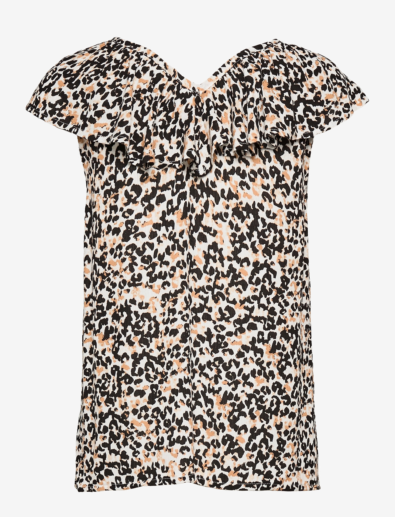 ICHI - IHMARRAKECH AOP TO3 - short-sleeved blouses - tan - 1