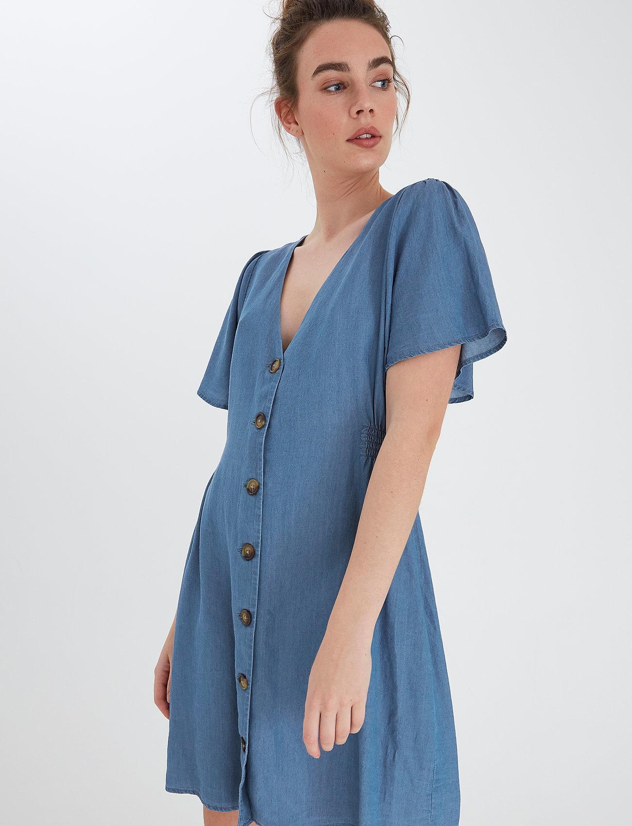 ICHI - IHLAMBREY DR3 - summer dresses - medium blue - 3